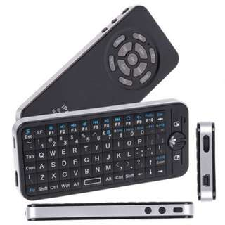 Brand New iPazzPort™ Air Mouse 2.4Ghz RF Mini Wireless Keyboard with Gyroscopic Mouse, Backlight and Dual Mode Learning IR Remote Control KP-810-16