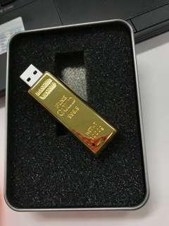 BN Gold Bar USB Memory Stick 16gb