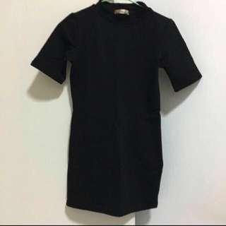Black basic bodycon dress