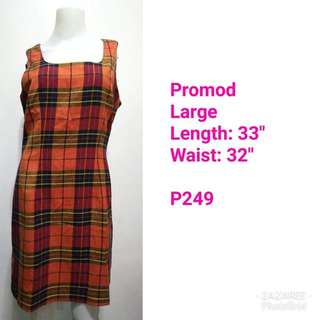 Promod Plaid Dress