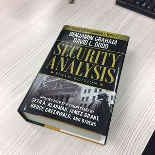 [BN] Security Analysis by Benjamin Graham & Graham Dodd - Investment Bible! -40% off retail price