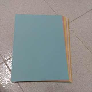 彩色A4紙(100張)低過半價