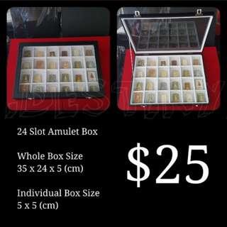 Brand New 24 Slot White Amulet Box