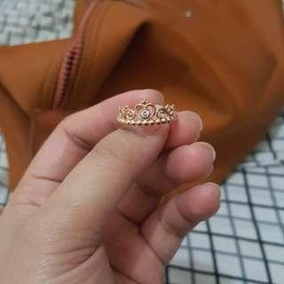 Authentic Pandora princess tiara ring rose gold
