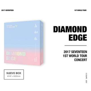 SEVENTEEN 2017 1st World Tour Diamond Edge In Seoul Concert DVD