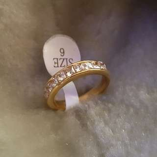Stainless Ring Size 6