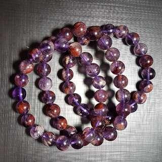 水晶 crystal 紫幽靈10mm