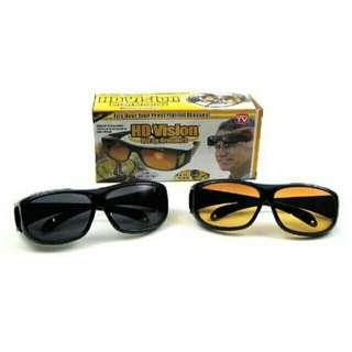 HD Vision Anti Glare Night View Driving Glasses set of 2