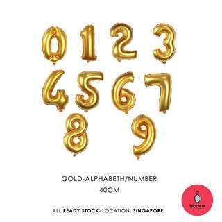 40cm alphabeth & number foil balloon