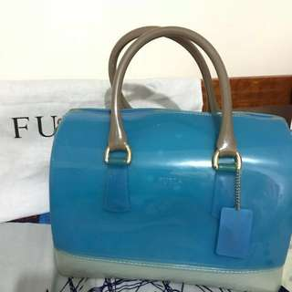 Furla Candy Bag Blue and White