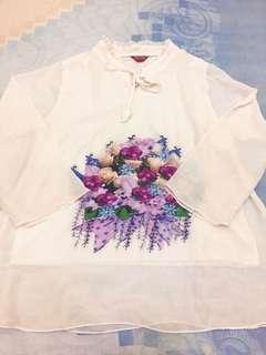 White shirt dengan furing didalam
