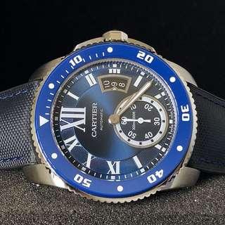 FS.BNIB CARTIER CALIBRE DE CARTIER DIVER BLUE 42MM AUTOMATIC WATCH WSCA0010