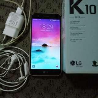 LG K10 2017 Fullset masih garansi