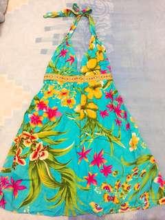 Tosca dress tali leher, bahan cotton adem