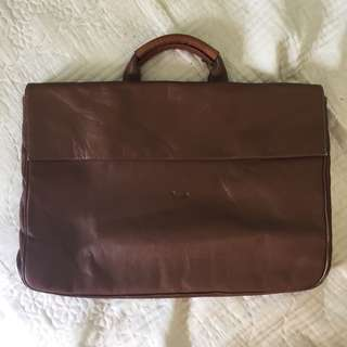 Leather Briefcase Office Bag 💼