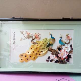 Framed Peacock Display from japan