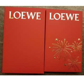 全新LOEWE 紅色利是封10個連盒