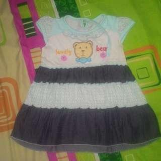 Dress baby 3-6 bulan