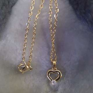 Heart Stone Stainless Necklace