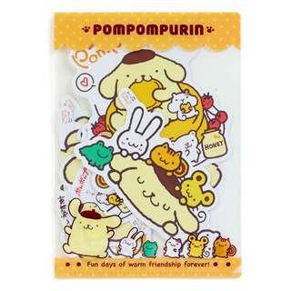 Japan Sanrio Pompompurin Decoration Sticker