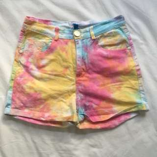 Cute High Waisted Paddle Pop Shorts