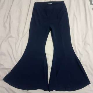 Navy blue bell pants