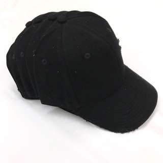 Cheap LMDN Black Distressed Cap