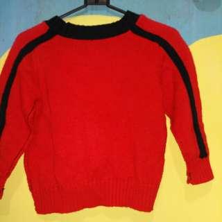 Sweter pink dan merah