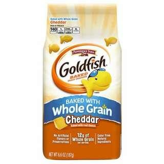 Goldfish baked with whole grain cheddar biskuit goldfish rasa keju