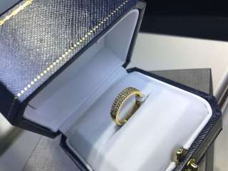 56pt. 18k yellow gold diamond ring