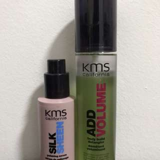 KMS Add Volume Spray & Silk Sheen Serum