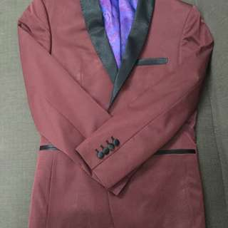 One Botton Suit Blazer