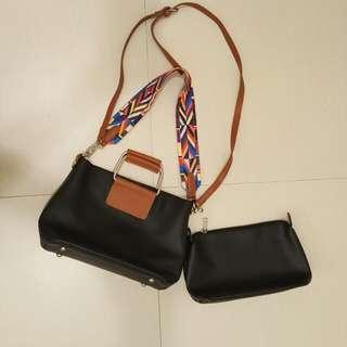 5-way leather bag