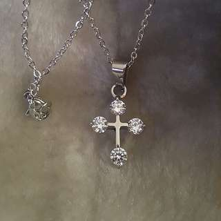 Cross Silver Stainless Necklace