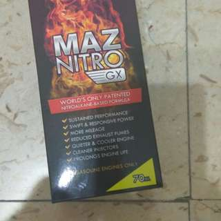 MAZ Nitro NItroalkane  formulated liquid that helps to save fuel