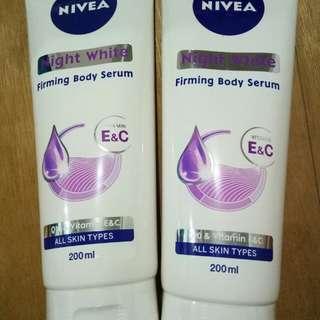 Nivea Night White Firming Body Serum