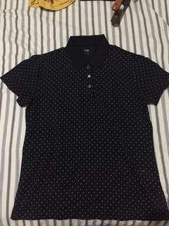 Uniqlo Stretch Pique Short Sleeve Polo Shirt