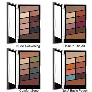 Wet N Wild eyeshadow palette - nude awakening, rose in the air, comfort zone, not a basic peach NEW WNW