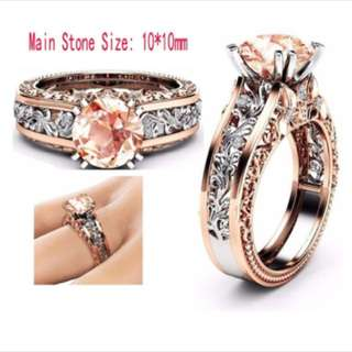 (PREORDER) Two Tone Detailed Ring