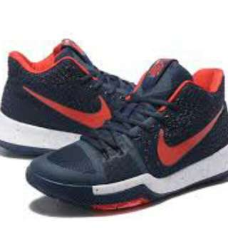 Kyrie 3 shoes - blue red sports shoes