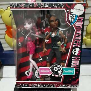 Monster high music festival Draculaura & Clawd wolf doll set