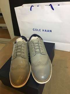 Cole Haan Grand Evolution Wingtip Oxford Ironstone Leather Womens 8B