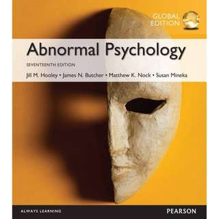 Abnormal Psychology 17th Global Edition