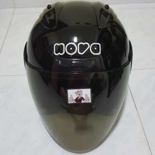 2002***NOVA Black v Tinted Black visor Helmet For Sale 😁😁Thanks To All My Buyer Support 🐇🐇 Yamaha, Honda, Suzuki