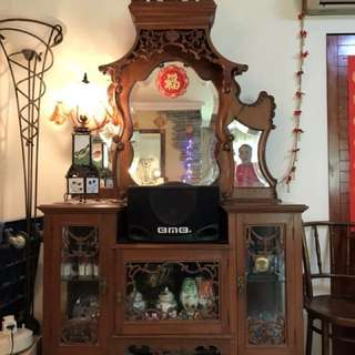 Peranakan Side Board with Bevelled Mirror