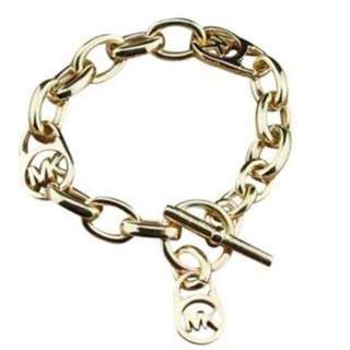 Michael Kors Gold Toggle Bracelet