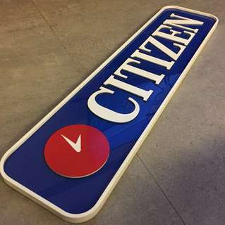 Vintage Citizen signboard (made in Japan)