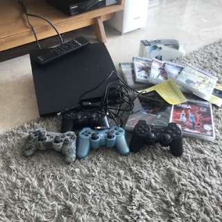 PS3 consol + games + accessories