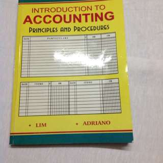 Introduction to  ACCOUNTING Principles and Procedures