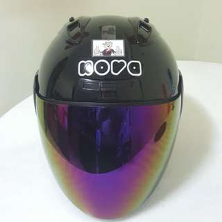 2002***NOVA Black v Rainbow visor Helmet For Sale 😁😁Thanks To All My Buyer Support 🐇🐇 Yamaha, Honda, Suzuki